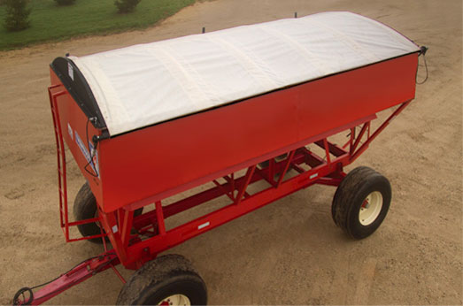 Martarp custom tarps and covers - grain buggy gravity box spreader tarps and covers