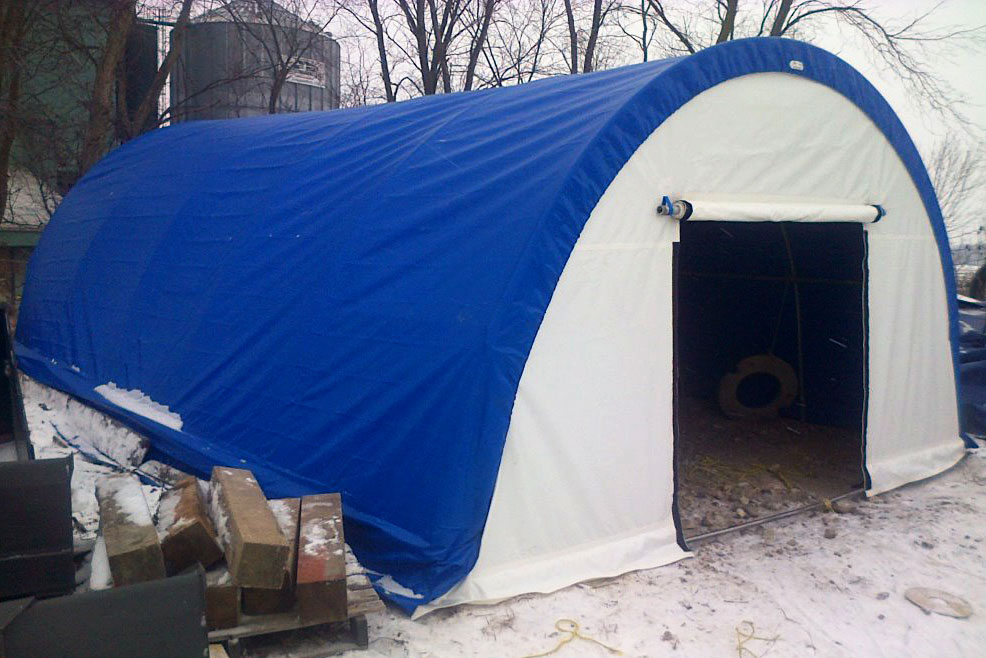 Custom tarp building shelter