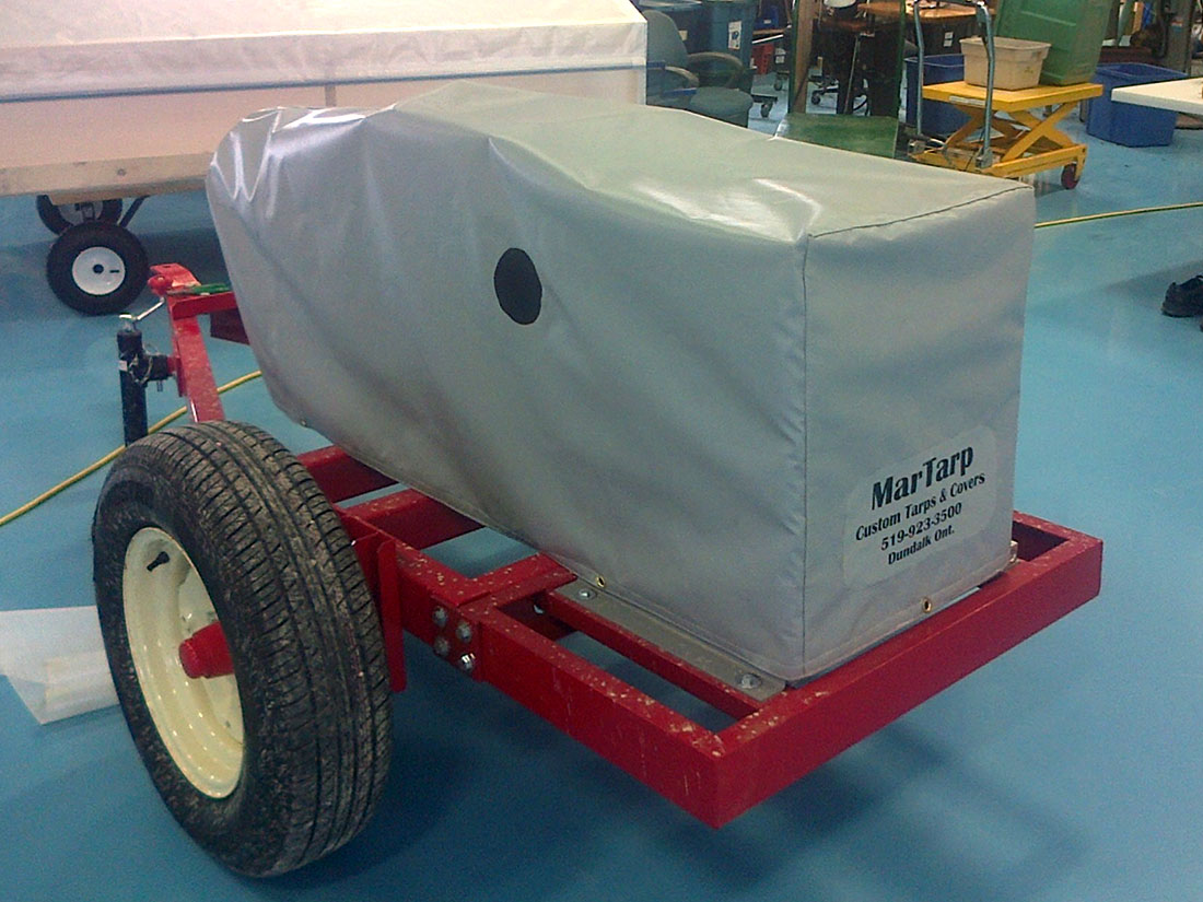 Custom generator tarp cover