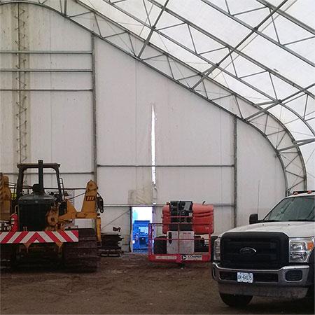 Martarp tarp repairs - interior before