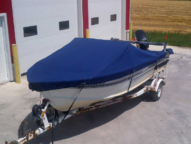 Custom canvas tarp covers for boats