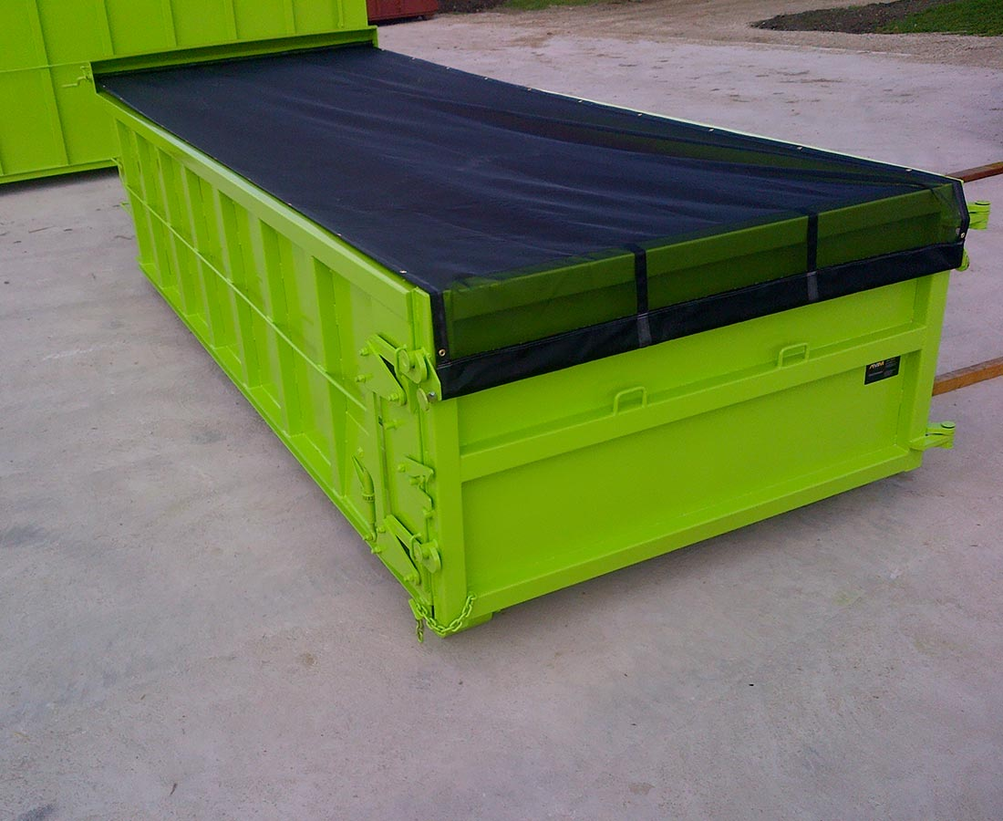 Custom Roll Off Bin Tarp System