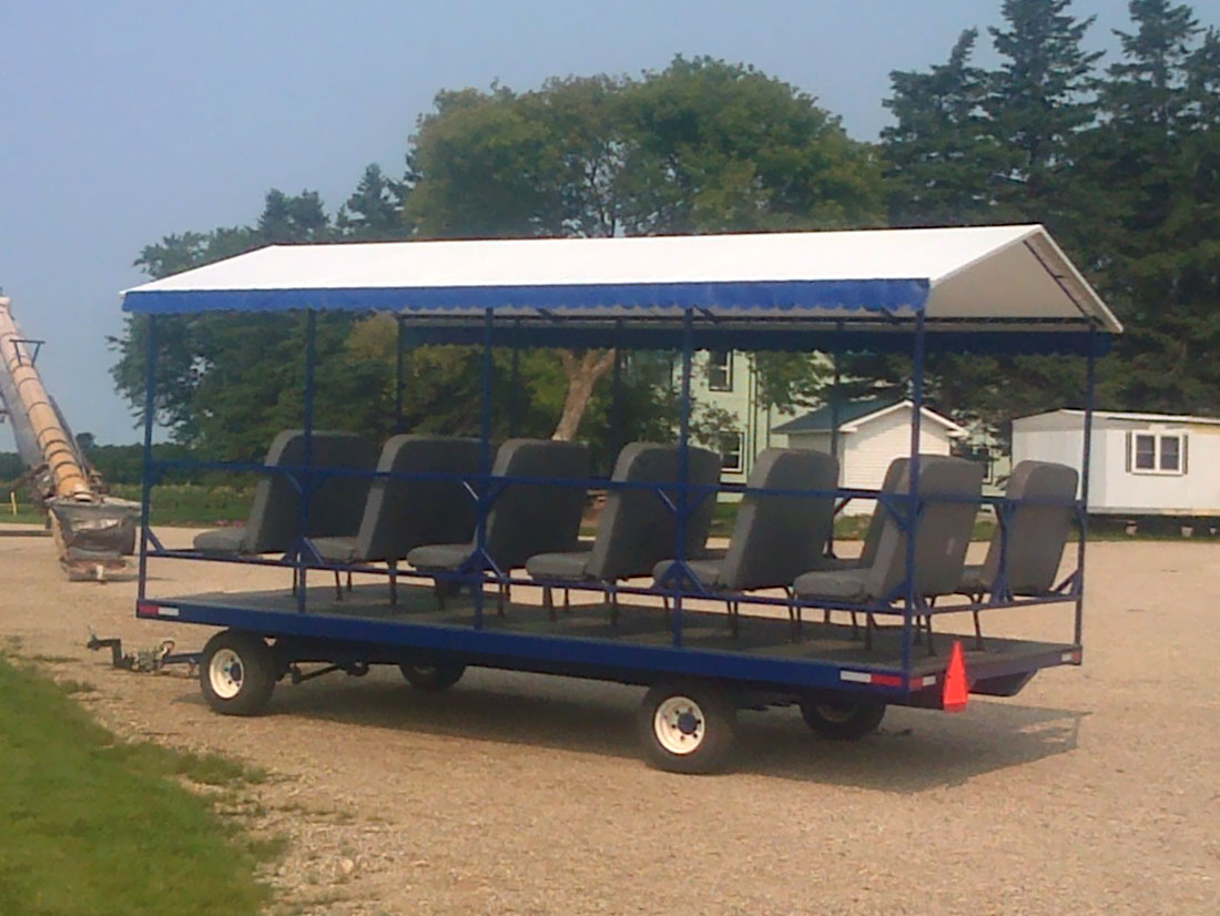 Custom wagon trailer tarp