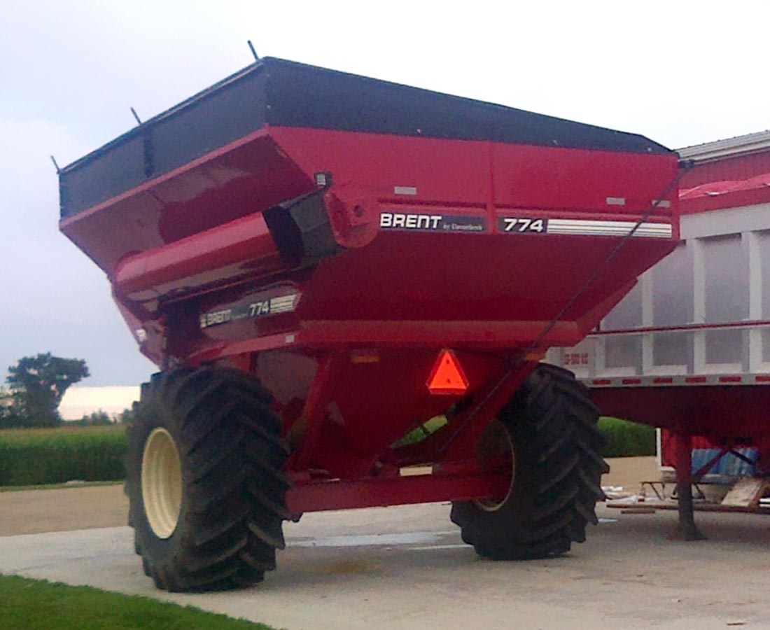 Grain buggy Roll Tarp kit 3