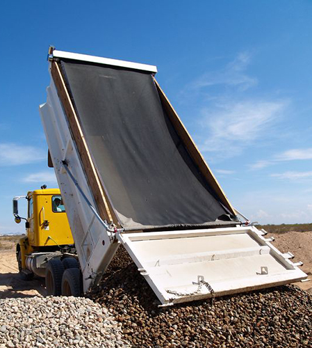 Gravel truck tarp kits