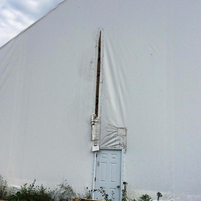 Martarp tarp repairs - exterior before