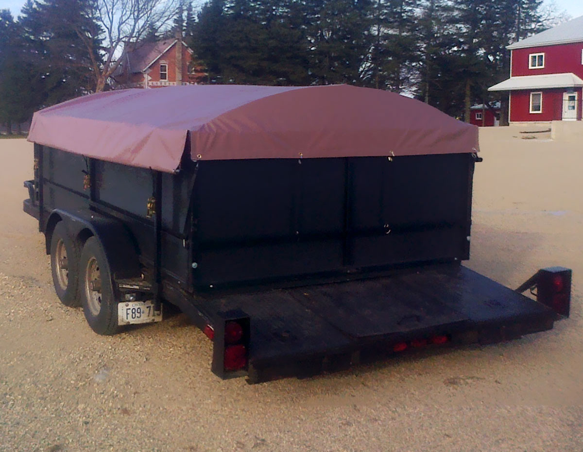 Custom tarps for utility trailers